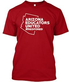 Arizona Educators United red shirt