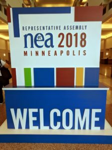 NEA RA 2018 welcome sign