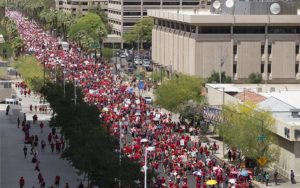 Red for Ed marchers in Phoenix