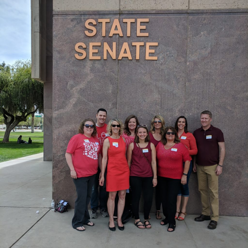 CEA members in front of the Arizona State Capitol