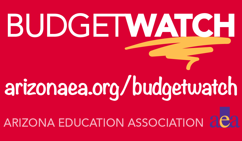 AEA Budget Watch with URL: arizonaea.org/budgetwatch