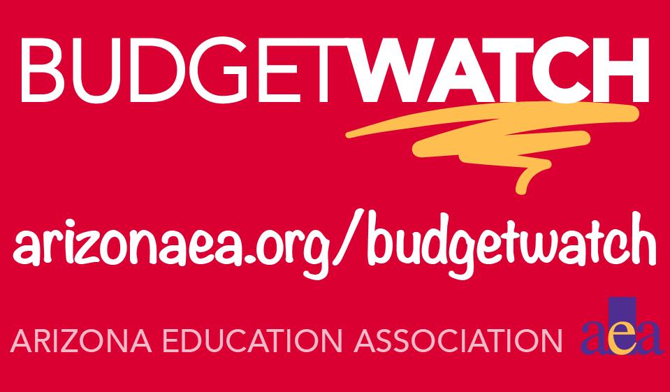 AEA Budget Watch with URL: arizonaea.org/budgetwatch